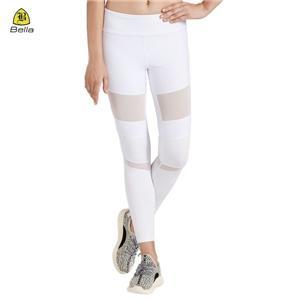 Mesh Semi Nylon White Sukan Seluar Yoga