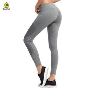 Zip Pocket Wanita Sukan bingkap pinggang tinggi