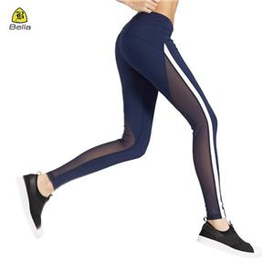 Half Mesh Womens Workout Sukan Legging