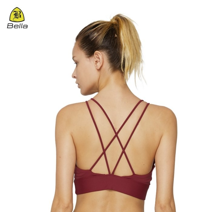 Spaghetti Straps Quick Dry Female Sports Bra