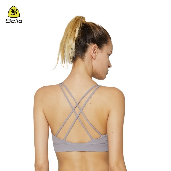 V Cut Sports Shock Absorber Gym Bra For Women