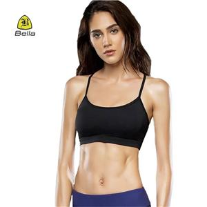 Casual Black Workout Fitness Bra Girls