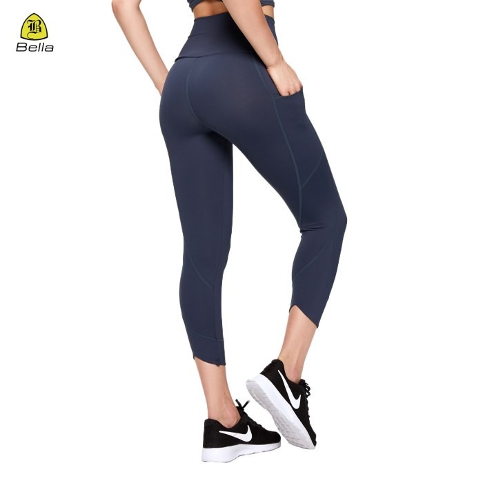 Girls Cropped Sports Leggings With Pockets