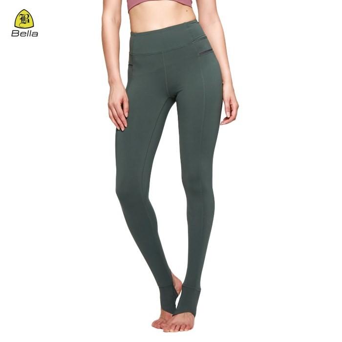 Woman Fitness Green Sports Leggings