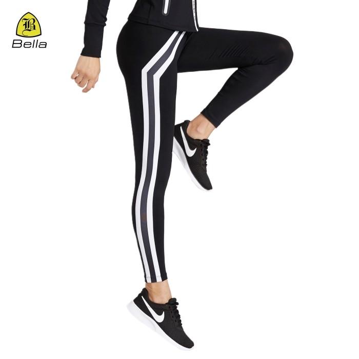 Frauen Black Fitness Sport Leggings