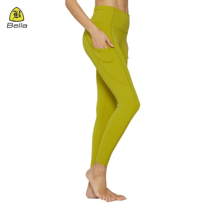 Abbigliamento da yoga per donna aderente con leggings a vita alta