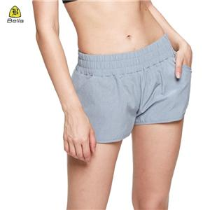 Workout Wanita Pocket Gray Yoga Pendek