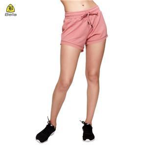 Drawstring Seluar pendek Workout Untuk Wanita Pink