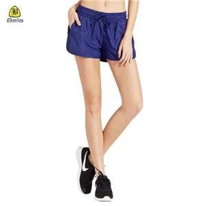 Pakaian Pocket Exercise Short Sport Femme