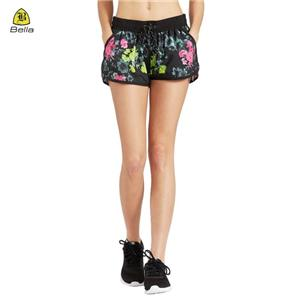 Ladies Dri Fit Yoga Shorts With Pockets