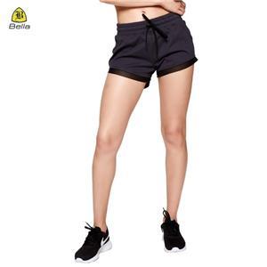 Gim Mesh Kaki Pembukaan Latihan Seluar pendek wanita