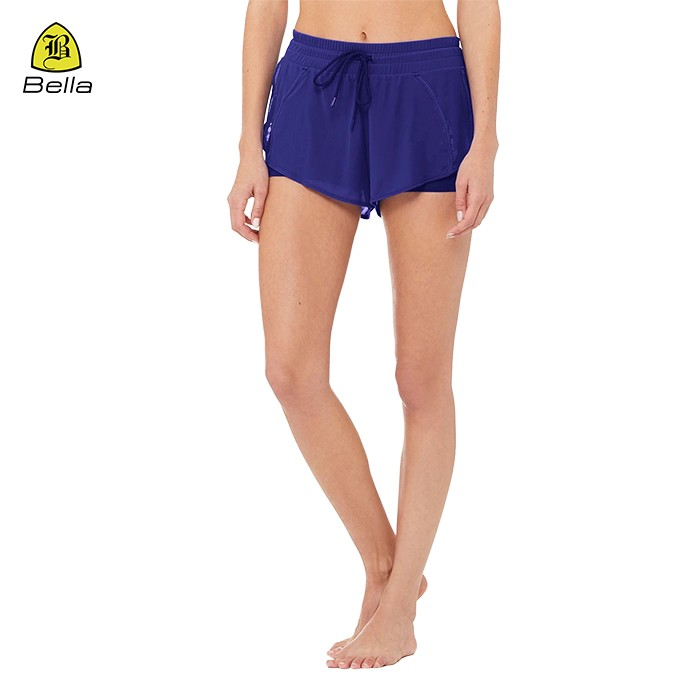 Womens Loose Jogger Yoga Short With Mesh