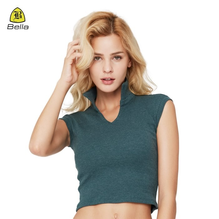 T Shirt Fitness Collar V Neck Lady