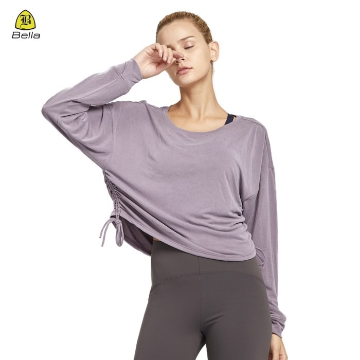Modal Long Sleeve Sports Shirt Women