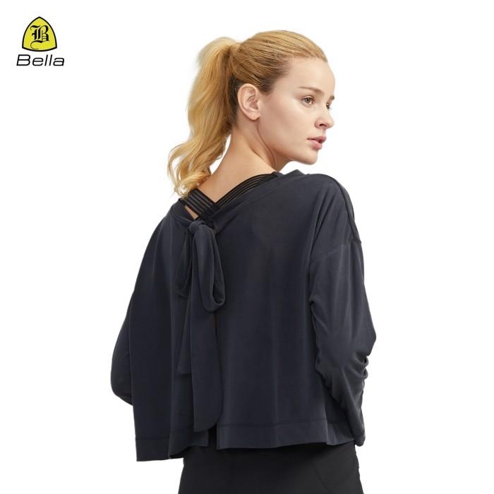 T-shirt sportiva da donna con apertura sul retro
