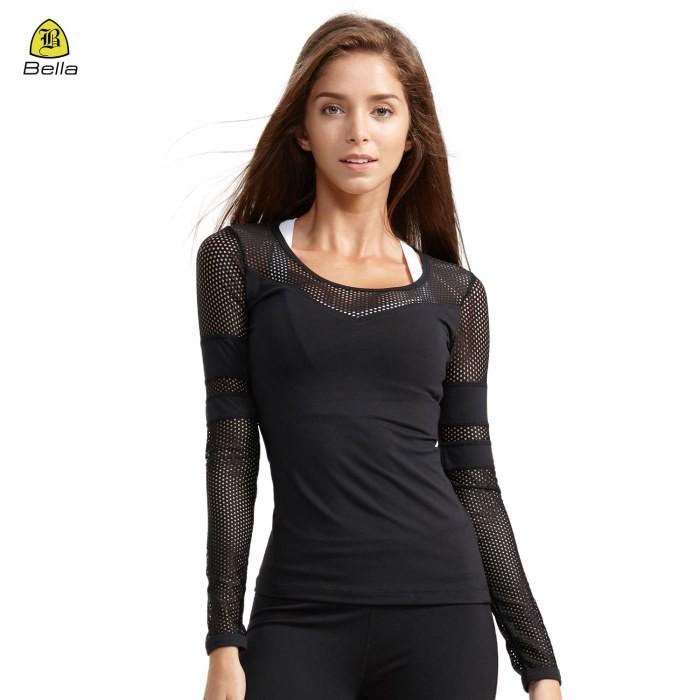 Long Sleeves Ladies Blank Sports Shirts
