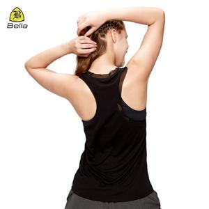 Швидкосохнуча чорна жіноча спортивна безрукавка