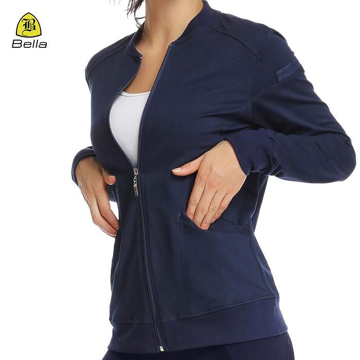 Yoga Zip Pocket Workout Jacket For Woman