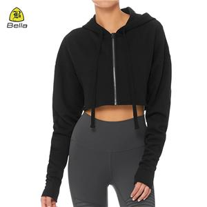 Women Training Workout Jacket With Hoody