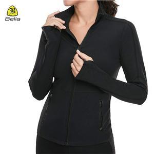 Jaket Sukan Wanita Kerah Zipper
