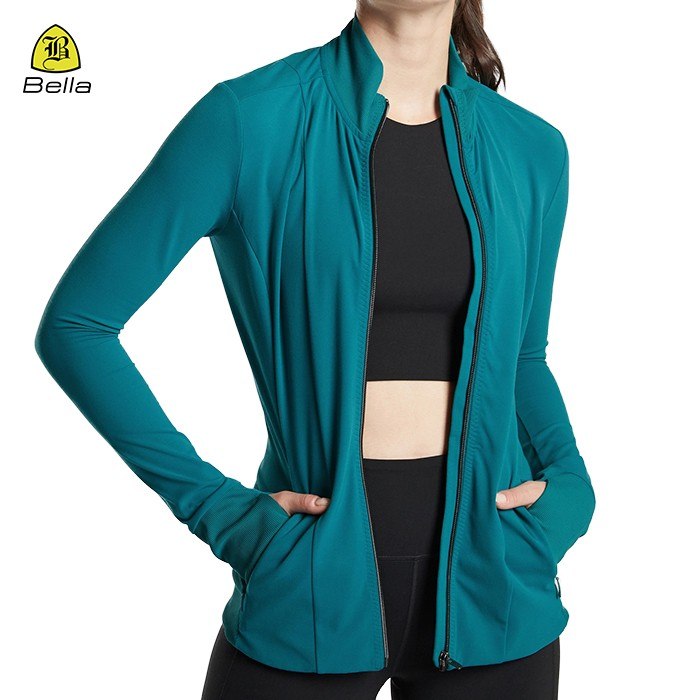 Femme Sport Exercise Jacket With Pockets