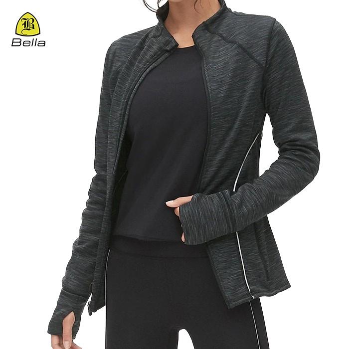 Plain Gym Wear Women Running Jackets