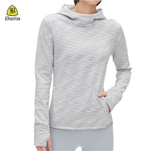 Women Long Sleeve Pullover Running Hoodie