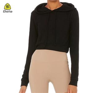 Womens Fitness Wear Black Yoga Hoodies