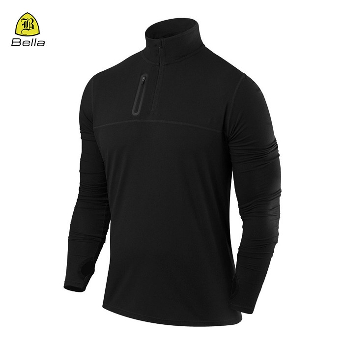 Jaket Sukan Thumb Hole Gym Black Man