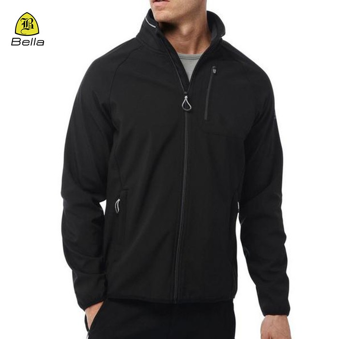 Jaket poket Training Black Mens Kecergasan
