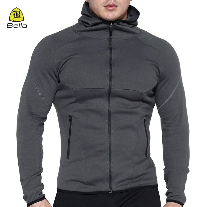 Jaket Gym Mens Athletic Polyester Basic
