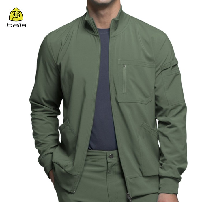 Pocket Active Wear Workout Jacket Mens