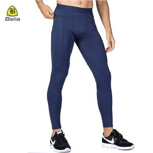 Side Pocketed Yoga Men's Athletic Leggings