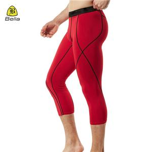 Fashion Reflective Capris Sport Leggings For Men