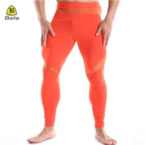 Mesh Printed Compression Leggings Men