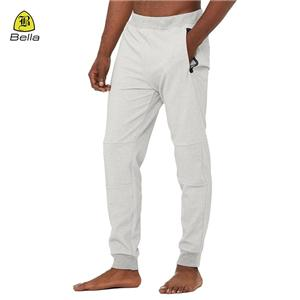 Zip Pocket Workout longgar Harem Pants Lelaki
