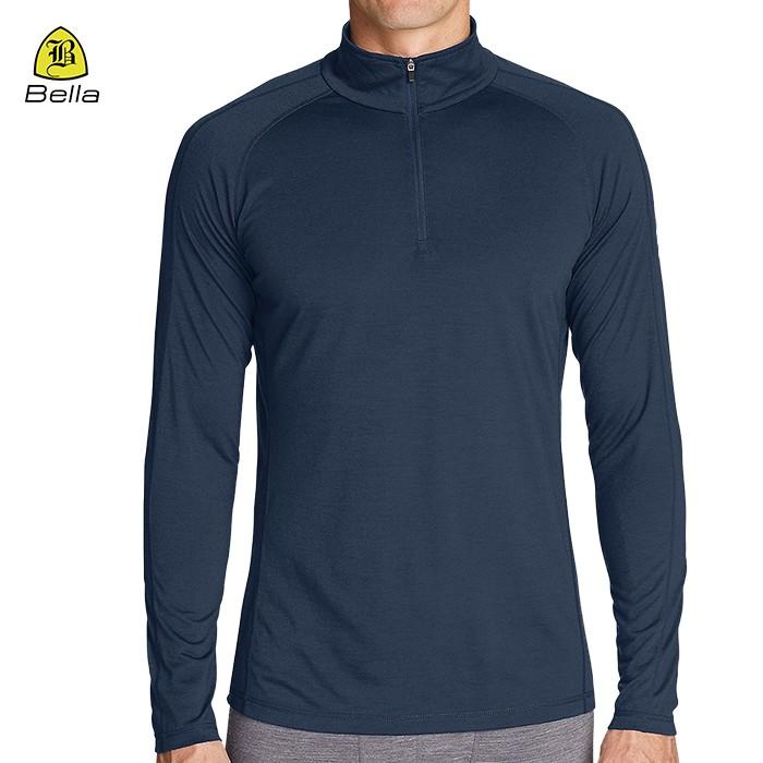 Half Zip Yoga-Kleidung der Männer Yoga Shirts