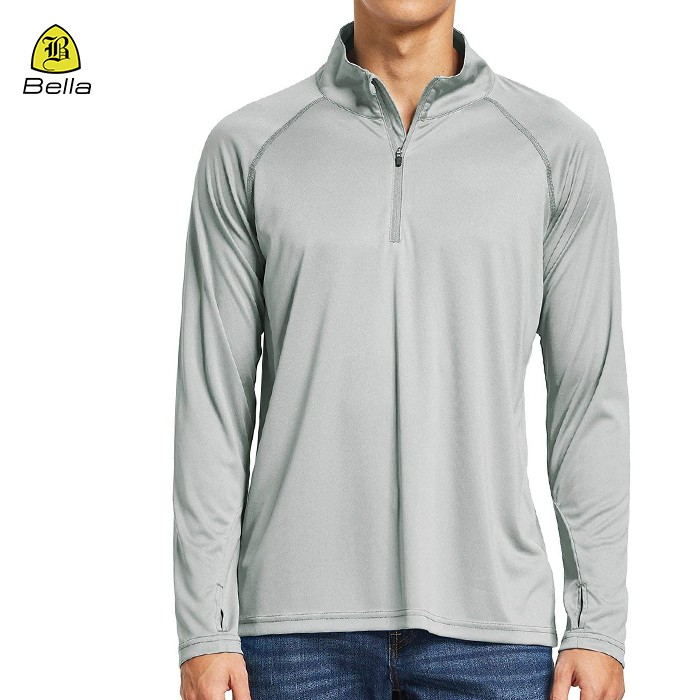 Long Sleeve Polo Collar Sports Shirt Men