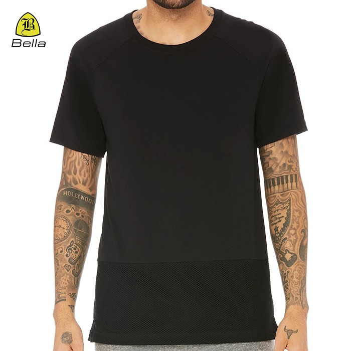 Moda Preto Workout 'do homem Shirts Yoga