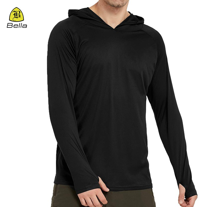 V leher Training Black Mens Hoodies Kecergasan