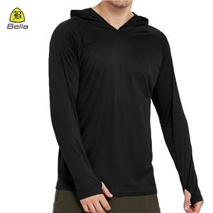 V Neck Training Black Mens Fitness Hoodies