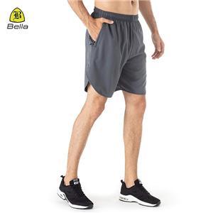 Zip Pocket Seluar pendek Running-fit Lelaki
