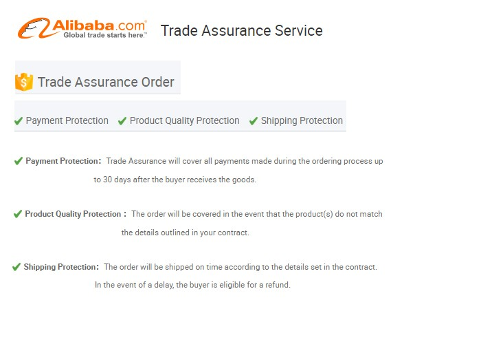 Alibaba Trade Assurance Service