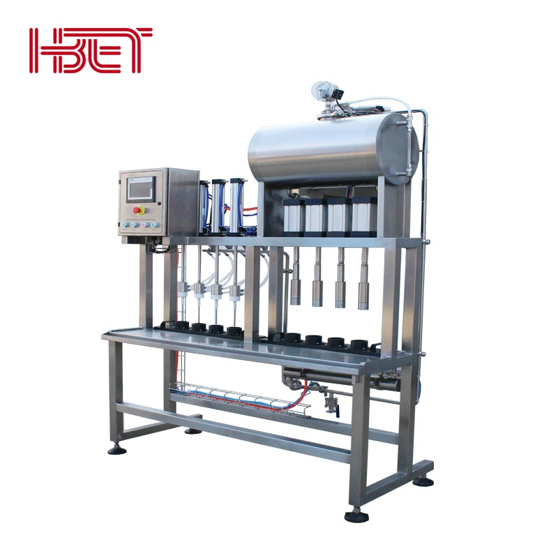 4 Heads Counter Pressure Beer Filling Machine