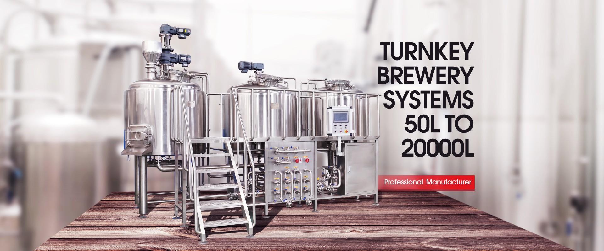 Attrezzatura da birrificio per birra artigianale