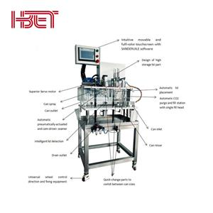All in one semi-automatic canning system can filling machine