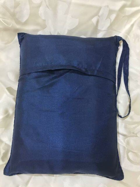 Light Weight 100% Silk Sleeping Bag Liner Blue Color