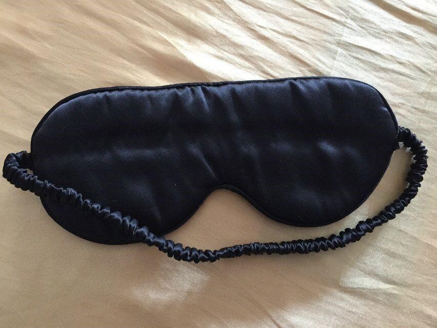 Elastic Or Adjustable Ribbon Silk Sleeping Eye Masks