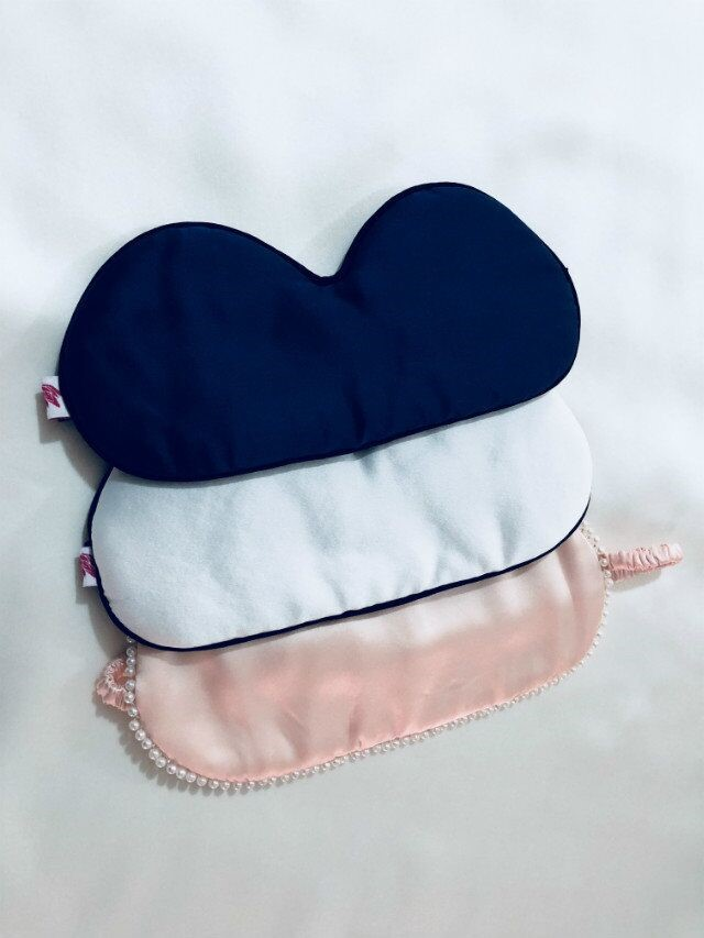 Custom Color And Logo 100% Silk Sleeping Eye Mask