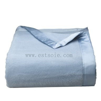 Grey Color 100% Silk Blanket